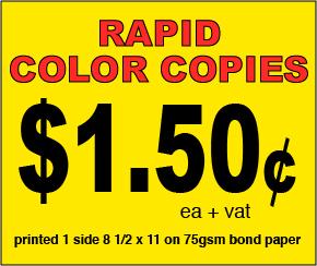 Color Copies Web Page
